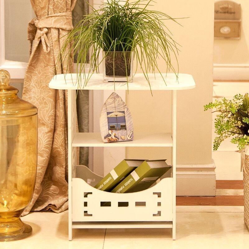 Cung cấp công cụ cài đặt đơn giản, vuông khắc bàn vuông nhỏ, bàn cà phê, phòng khách, bàn cà phê, kết hợp màu trắng đơn giản, một số loại