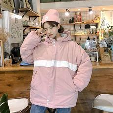原创森女部落学院风面包服韩版2018新款潮两面穿棉服宽松冬季外套