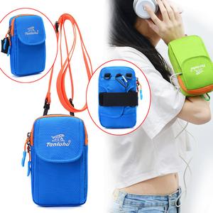 Đa chức năng túi xách túi xách tay 6.0 inch túi điện thoại di động vai túi Messenger túi công suất lớn cổ tay túi tập thể dục chạy túi