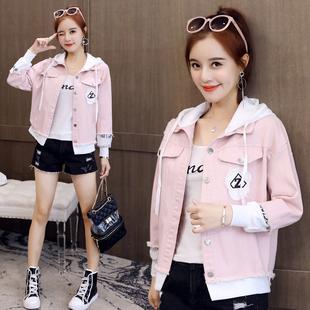 新款学生韩版夹克短外套女潮宽松百搭
