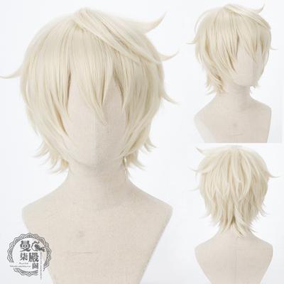 taobao agent Original God cos Bennett cosplay wig high temperature silk creamy yellow short hair cos wig spot