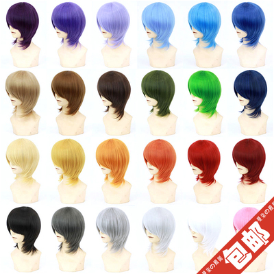 42agent [Spot] thickening universal COS fake hair face short hair MSN based hairy men and women cos wig - Taobao