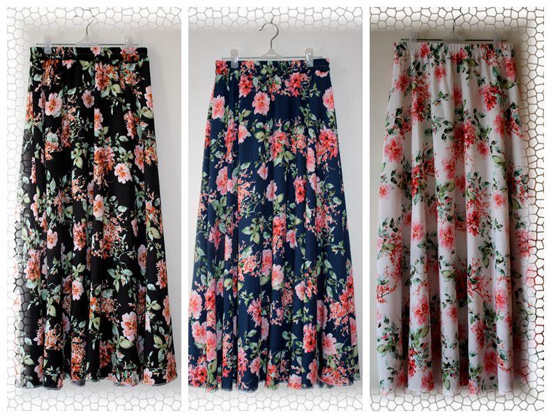 Mùa hè cotton dài váy rayon váy váy màu váy cotton lụa swing váy đàn hồi eo váy