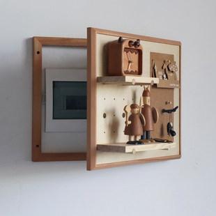 Электрическая коробка Окклюзия декоративный нордический деревянный распределение мощности коробка туннель панель стеллажи творческий амперметр коробка пробка оставить сообщение панель