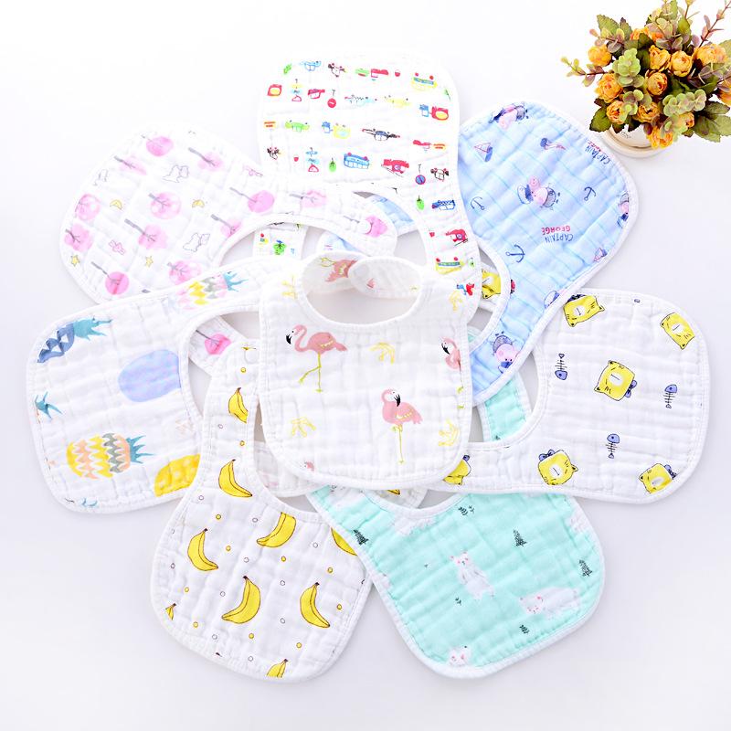 Cotton 8 lớp seersucker hình chữ U bib bib bib nước bọt khăn chống thấm nước chống bẩn túi đồ dùng cho bé - Cup / Table ware / mài / Phụ kiện