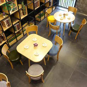 Nội thất Teahouse Western Restaurant Bàn và Ghế kết hợp Cafe Sáng tạo Cá tính Lễ tân Quầy bar Bàn ăn vuông Hiện đại Bàn tròn nhỏ - FnB Furniture