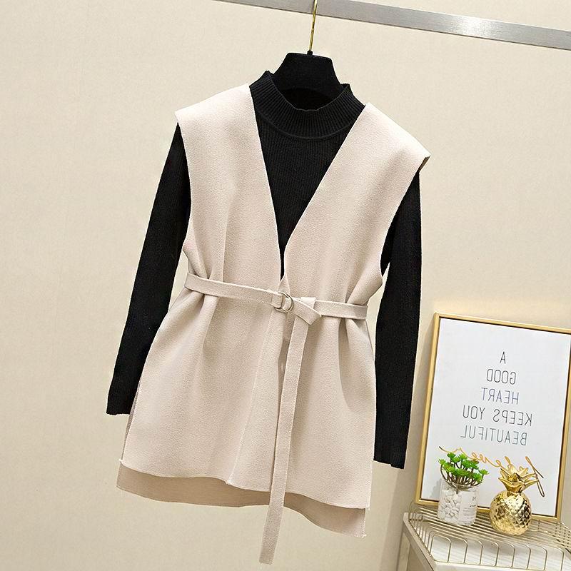 单件/两件套 新款上衣小香风马甲两件套女学生韩版网红套装25