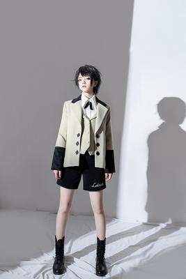 taobao agent 【PC original design】Suksar winter vintage elegant suit collar fake two-piece woolen coat coat