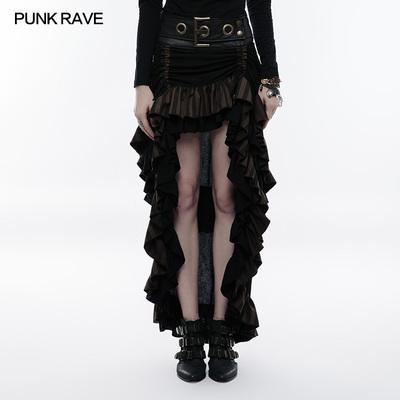 taobao agent PUNK RAVE Halloween European Retro Palace Dress Victorian Long Skirt Steampunk Stacked Half Skirt