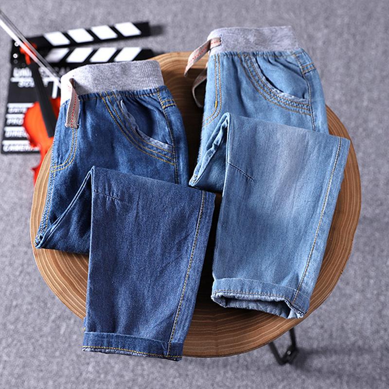 Trai quần mùa hè phần mỏng jeans trẻ em 2018 mới mùa hè ăn mặc mùa xuân và mùa thu bé quần chống muỗi quần quần duy nhất