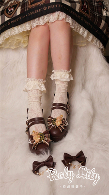taobao agent 【Fairydream spot】National brand lolita RolyLily bear wearing a crown low heels