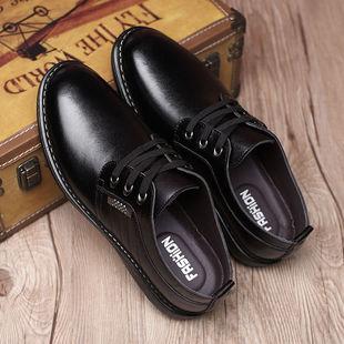 3湖都加绒棉男鞋皮鞋男休闲软皮鞋