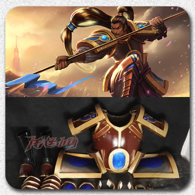 taobao agent 【Long Ting】League of Legends cosplay props / Debon Manager Xin Zhao cos armor weapons full set
