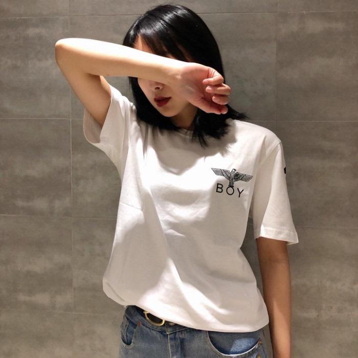 date de sortie acheter pas cher officiel de vente chaude boy tide marque été nouveau t-shirt à manches courtes 2019 femmes aigle  lâche grande taille était mince coton couple chemise à fond