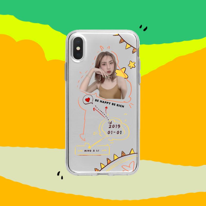 情侣手机壳定制来图抠图照片头像任意型号透明苹果11X华为p30vivo