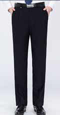 2018年秋冬新品中年男士黑色西裤加厚有褶正装中老年爸爸装西裤