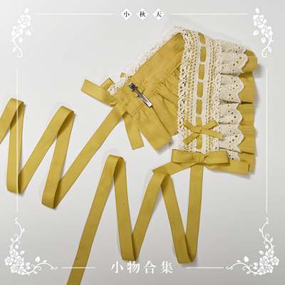 taobao agent 【Final payment】NyaNya small autumn lolita original pure color wild hairband side clip bow tie small collection