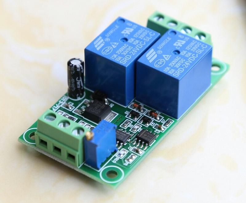12V24V直流电机正反转控制带过载过流堵转保护器10A电流可调