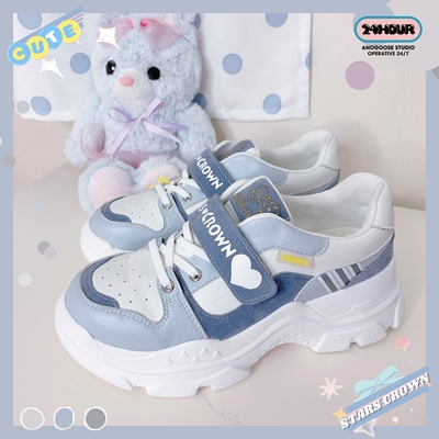 taobao agent [Spot] Parkour Star Crown Original Genuine Lolita Sneakers Cute Lo Running Students All-match Daily