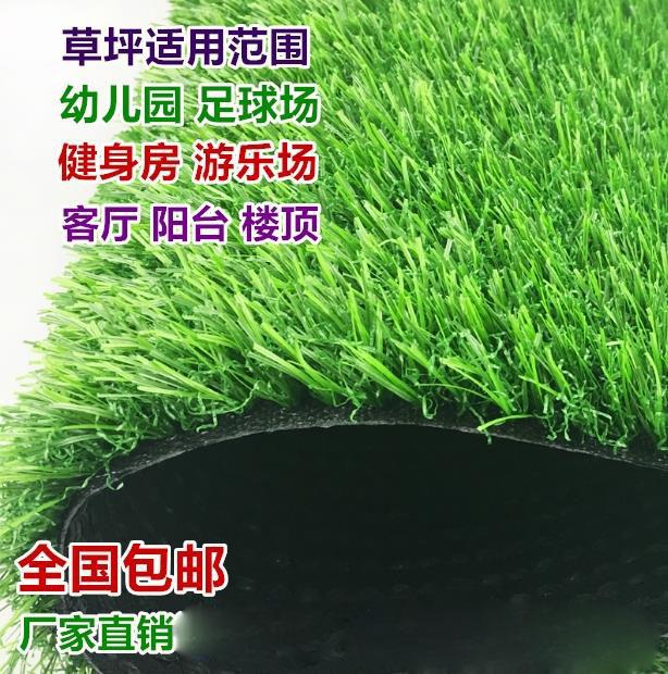 家用跑道客厅草坪垫子假草 绿色家庭装饰门头背胶地毯工地塑胶墙