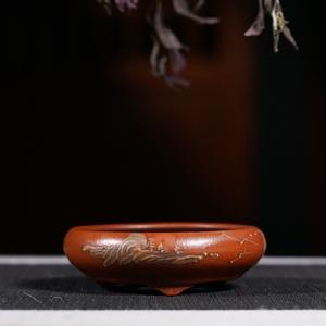 Đài Loan trở lại cũ màu tím cát hoa nồi đầu Cộng Hòa của đất nước handmade đồ cổ đồ cổ bộ sưu tập đặc biệt