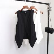 Mùa hè phần mỏng cotton vest vest nữ Hàn Quốc phiên bản của hoang dã mỏng lỏng mỏng V-Cổ cardigan áo ngắn